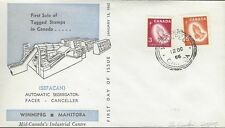 1966 Christmas #451-2p TAGGED Praying Hands FDC with Winnipeg cachet unaddressed