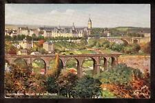 Tuck art signed Beraud Fort Bourbon Vallee de la Petrusse Luxembourg postcard