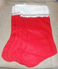 Set of 5 Holiday Time Red  17 inch Christmas Stockings  New with Tags