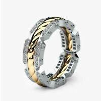 Fashion Silver Rings For Men/Women Jewelry Cubic Zircon Wedding Ring Size 6-10