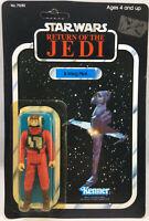 Vintage Star Wars ROTJ Carded B-Wing Pilot Action Figure 77 Back HK MOC