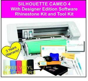 Silhouette Cameo 4 Cutting Machine - Designer Edition Software & Rhinestone Kit