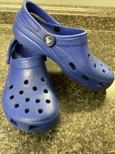 Crocs Work Shoe Non-slip Clog gray Womens Size 8 With Heel Strap EUC