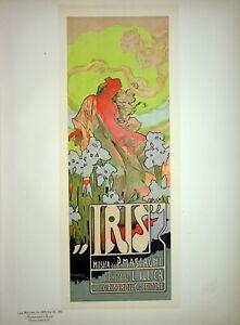 HOHENSTEIN : Iris, opéra-comique - Lithographie originale signée,1899