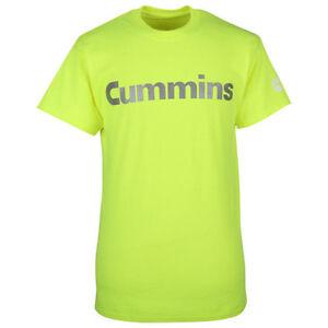 Cummins dodge diesel t shirt top safety green short sleeve reflective MEDIUM