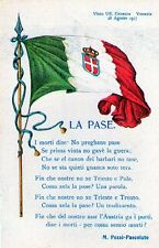 """WW1 Propaganda - Venezia """"La Pase"""" Bandiera Italia Flag - Non Viaggiata - A521A"""