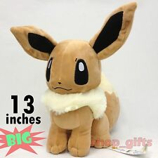 "Pokemon Eevee Plush Soft Toy Stuffed Animal Character Doll Teddy 13""/33CM BIG"