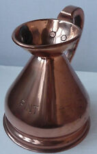 More details for vintage copper ale jug with lead stamp 1 pint arts & crafts - great present
