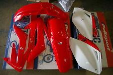 POLISPORT HONDA PLASTIC KIT CRF250R CRF250 2004 2005  RED SHROUDS  FENDERS