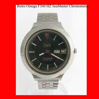 Vintage Omega SeaMaster F300 Mint  Day-Date Steel  Wrist Watch 1975