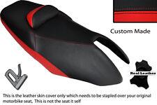 Negro Y Rojo Custom Fits Yamaha T Max Xp 500 01-07 Doble Cuero Funda De Asiento