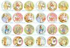 24x PETER RABBIT edible WAFER CARD cup cake toppers Birthday Party Cakes
