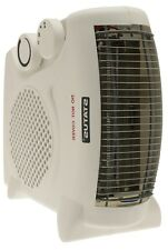 Portable Dual Position Fan Heater 2000W Carry Handle Adjustable Thermostat