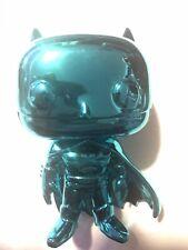 ***LOOSE*** Funko Pop Batman Teal Chrome #144 DC Comics SDCC GameStop Exclusive