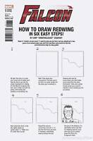FALCON #1 ZDARSKY HOW TO DRAW VARIANT LEG MARVEL COMICS AVENGERS PATRIOT