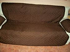 "Mainstays Brown/Beige Reversible 3 Piece LoveSeat-Cover- 64-1/2""x 69-1/2"""