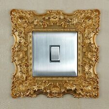 Golden Resin Single Light Switch Surround Socket Finger Plate Panel Cover L14