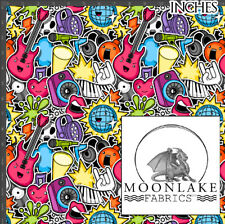 Music Crowded Repeat Fabric 100% Quality Cotton Poplin Fabric * Exclusive *