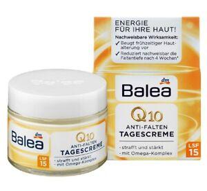 Balea Q10 Face Cream SPF 15 Anti Wrinkle Tightens & Strengthens 50 ml