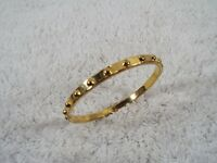 KATE SPADE New York Knobby Goldtone Bangle Bracelet (C28)