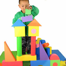 50pcs Soft EVA Foam Building Blocks Bricks Set Children Educational Toys Gift