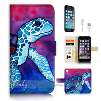 ( For iPhone 7 ) Wallet Case Cover P3222 Turtle