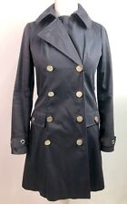 Reiss Womens Navy Trench Coat Blue Double Breasted Lined Jacket Size S