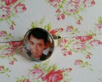 Ferris Bueller Image Silver Tone Adjustable Ring Retro 80s Film Cartoon