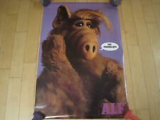 NOS!! 1986 ALF no problem HUGE FACE POSTER tv show PROMO PIN UP funny 80s COMEDY