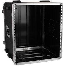 "NEW PA 12RU Equipment Rack Mount Flight Storage Case.Concert.19"" Depth.12U space"