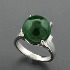 Jade IT Anillo De Diamantes 900 PLATINO Verde Jade Unikat diamantes NUEVO
