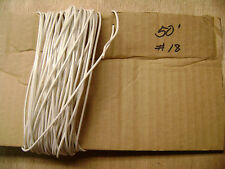 TFN 18 AWG WHITE 50' Ft 18 Gauge AWG Solid Copper Electrical Wire