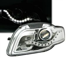 FEUX PHARES AVANT DEVIL EYES LED CHROME AUDI A4 8E B7 2004-2007 ADVANCE PACK