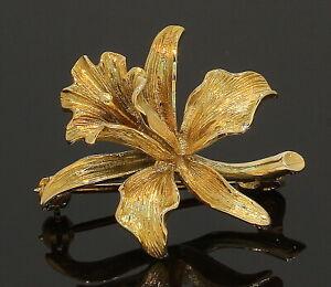 9 Carat Yellow Gold Flower Brooch 9CT (80.20.102)