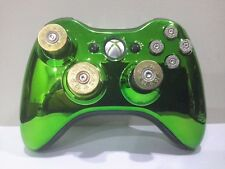 Xbox360 Controller Orig. Microsoft Cal. 12 20 GAUGE 9mm Luger Chrome Green MOD