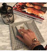 Tiffany Hardware Argento Sterling Collana catena a trama grossa oro Bracciale