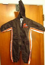 CLEVELAND BROWNS nylon jacket hoodie 6M infant NFL outdoor creeper w/ hood