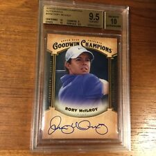 RORY McILROY 2014 Goodwin Champions Autograph SSP  RC BGS 9.5/10