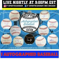 2020 GOLD RUSH AUTOGRAPHED OFFICIAL MLB BASEBALL EDITION LIVE BOX LIVE BREAK #18