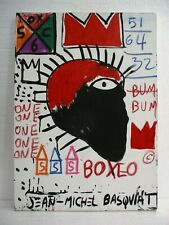 BEAUTIFUL ACRYLIC ON CANVAS BY JEAN-MICHEL BASQUIAT 1983 VERY NICE