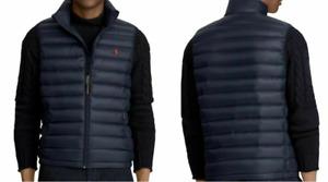Polo Ralph Lauren Pony Full Zip Down Packable Vest Men's Navy Sizes L XL 2XL NWT