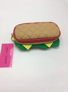 Betsey Johnson Women's Kitsch You're My Hero Sandwich Pencil Case Handbag BUP12