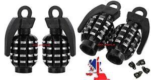 4x Grenade Tyre Alloy Dust Cap Valve Covers CORDOBA/IBIZA TDI/LEON/ALTEA/FR