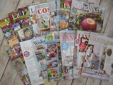 15 Wohnzeitschriften, 2020 / 2021, Gartenzeitschriften, Landhaus, Landgarten