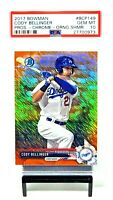 2017 Bowman Chrome Orange Shimmer CODY BELLINGER RC /25 PSA 10 GEM MINT / Pop 5