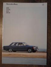 MERCEDES BENZ 200 230E 250 280E SALOONS orig 1981 UK Mkt Prestige Brochure  W123