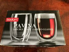 Bodum Pavina Double-Wall Thermo Tumber/Glasses. 12 oz Set of 2 In The Box