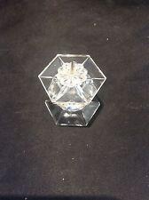 Rare retired SWAROVSKI CRYSTAL Glass Hexagonal Candleholder Lovely Condition