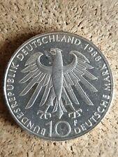 10 Deutsche Mark * Carl Zeiss 1988 F SILBERMÜNZE GELDANLAGE