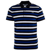Lacoste SPORT Lightweight Striped Knit Tennis Polo Shirt  - Mens